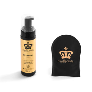 Royalty Society PRINCESS Self Tanning Mousse + Royalty Society Tan Perfecting Mitt - Royalty Society  - Tan, Spray Tan, Sunless Tan Royalty Society - Melbourne, Australia Royalty Society - Royalty Tanning