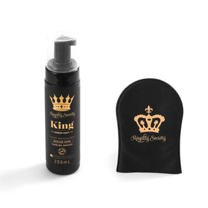 Royalty Society KING Self Tanning Mousse + Royalty Tan Perfecting Mitt - Royalty Society  - Tan, Spray Tan, Sunless Tan Royalty Society - Melbourne, Australia Royalty Society - Royalty Tanning
