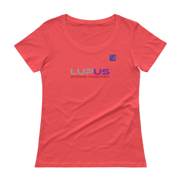 LupUS Strong Together Women Scoopneck T-Shirt