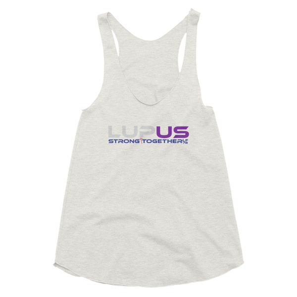 LupUS Strong Together Women's Tri-Blend Racerback Tank