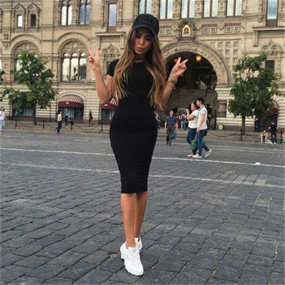 2017 New Ladies Women Short Sleeve Slim Dress bodycon womens sexy dresses party night club dress Summer Dress vestidos femininos