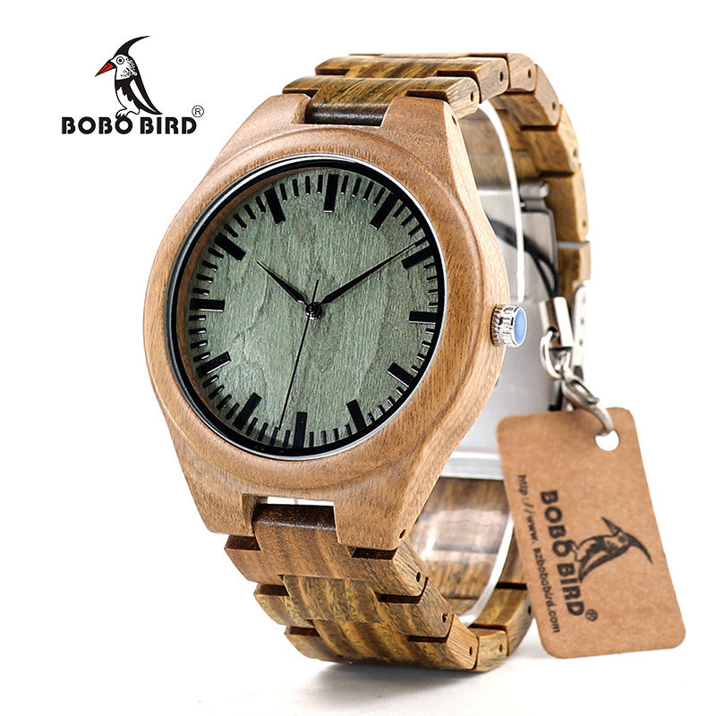 handmade dp zebra wood brown wooden band leather watches grain mens genuine with amazon watch natural com