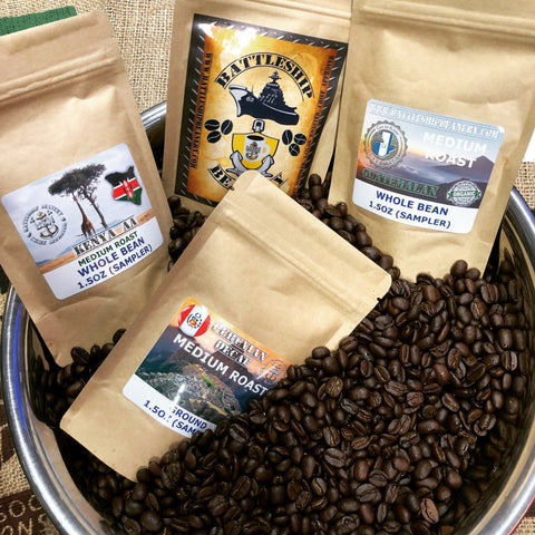 Battleship Beanery Sampler Packs