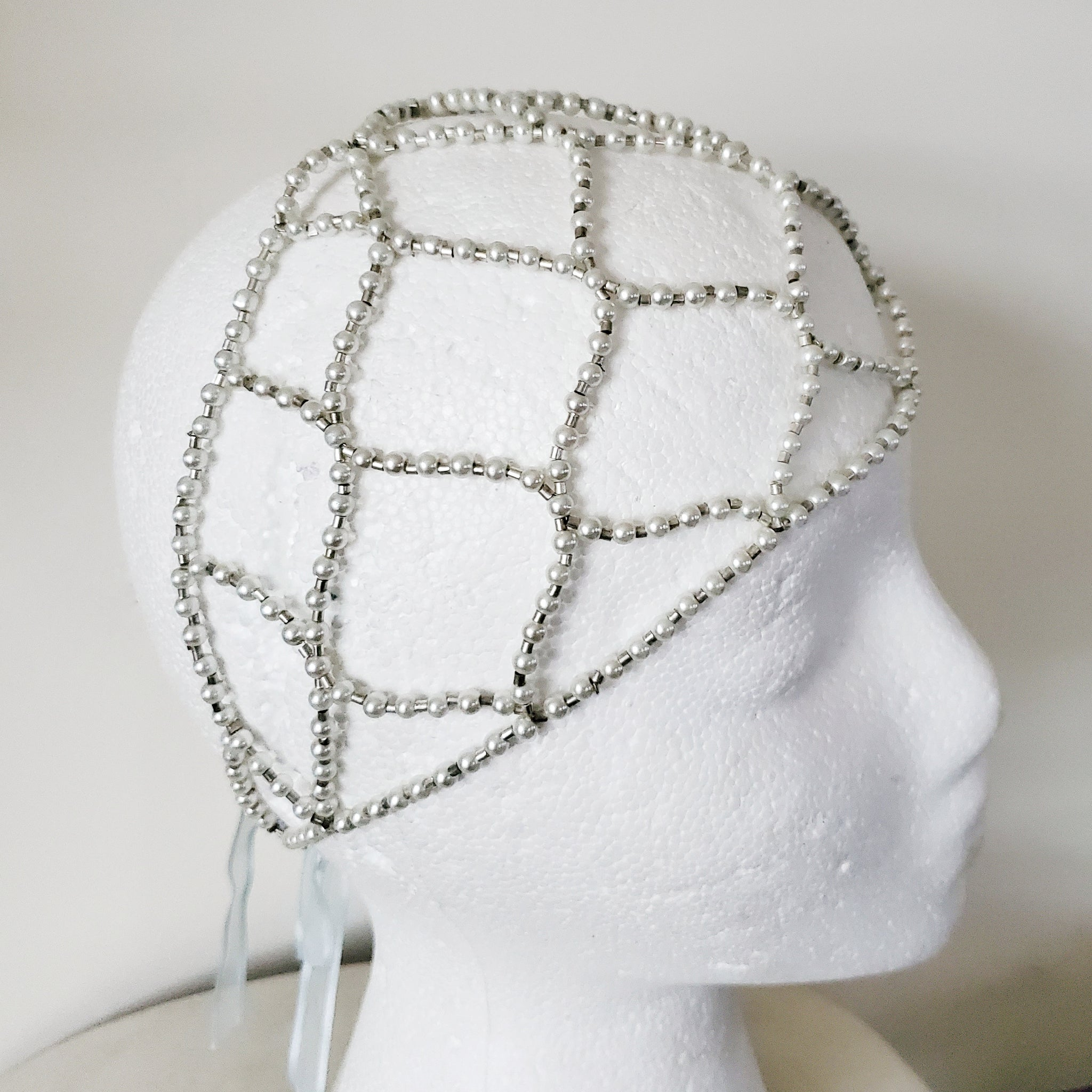 1920s Inspired Pearl Head Wrap Flapper Vintage Reproduction Bridal Crown