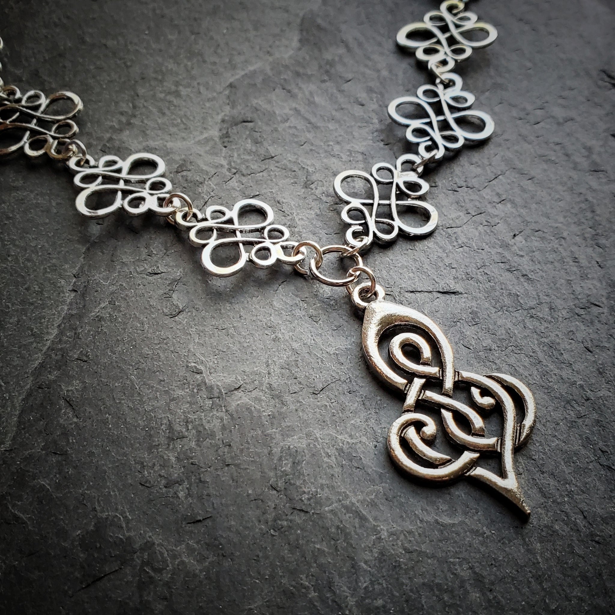 Celtic Swirl Goddess Necklace Renaissace Festival Fantasy Jewelry