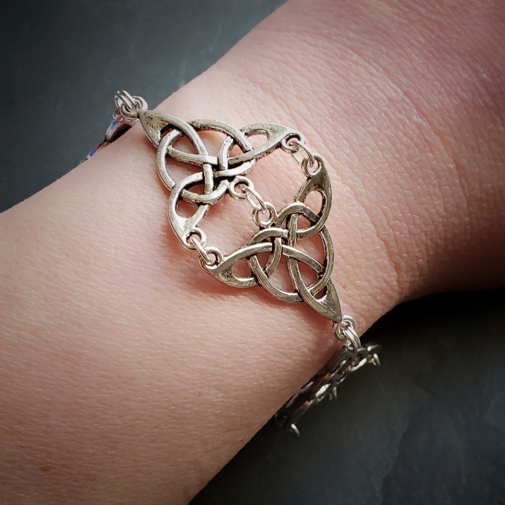 Triquetra Bracelet Wiccan Jewelry Gift for Witch