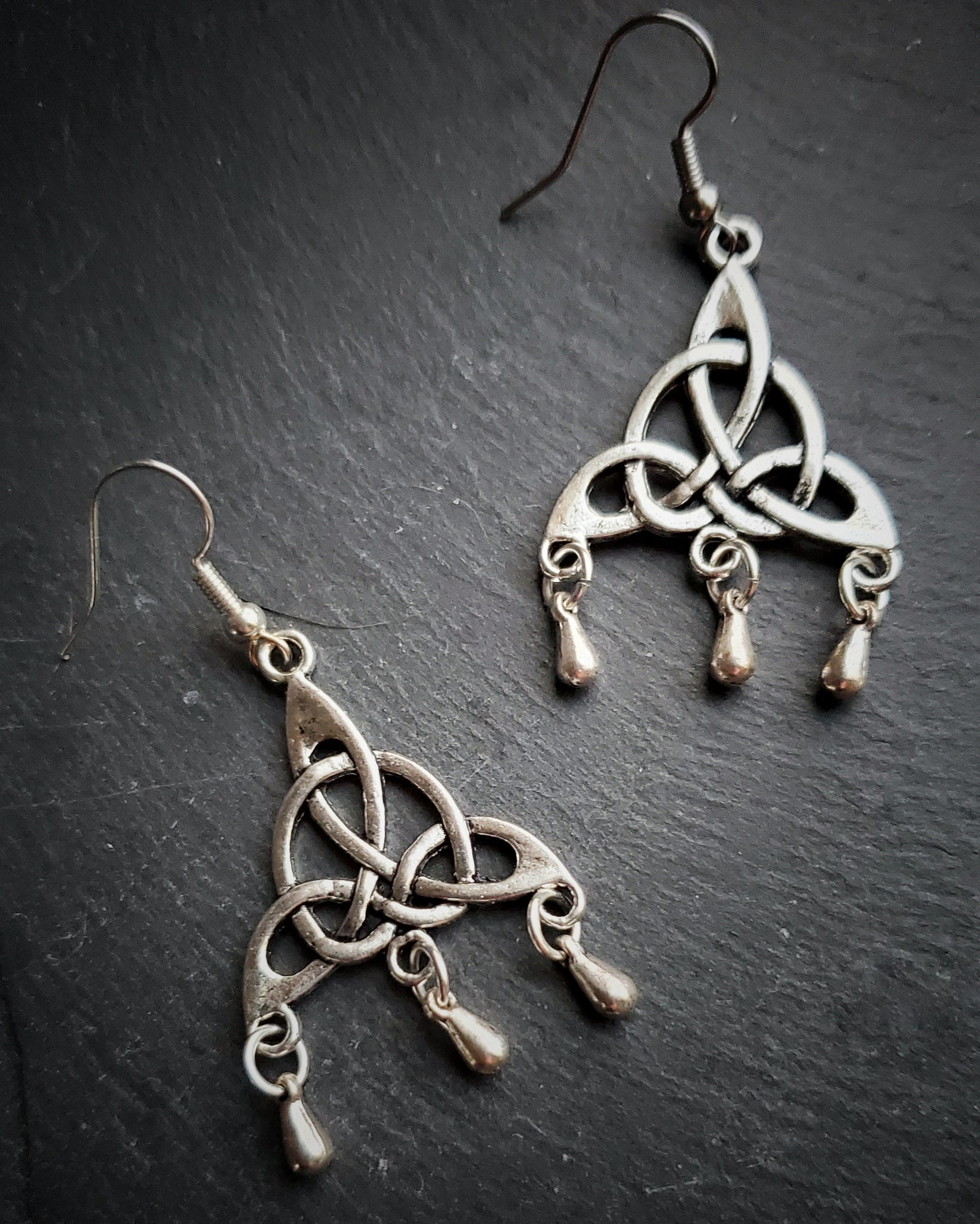 Celtic Triquetra Earrings Wiccan Jewelry