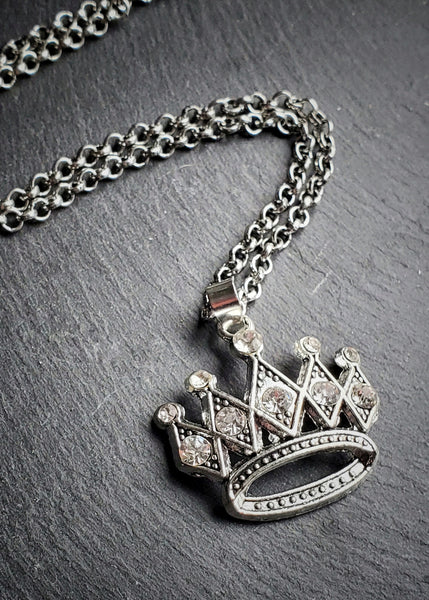 Rhinestone Crown Princess Necklace