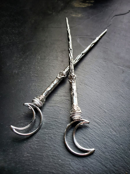 Crescent Moon Hair Sticks Witch Hair Jewelry
