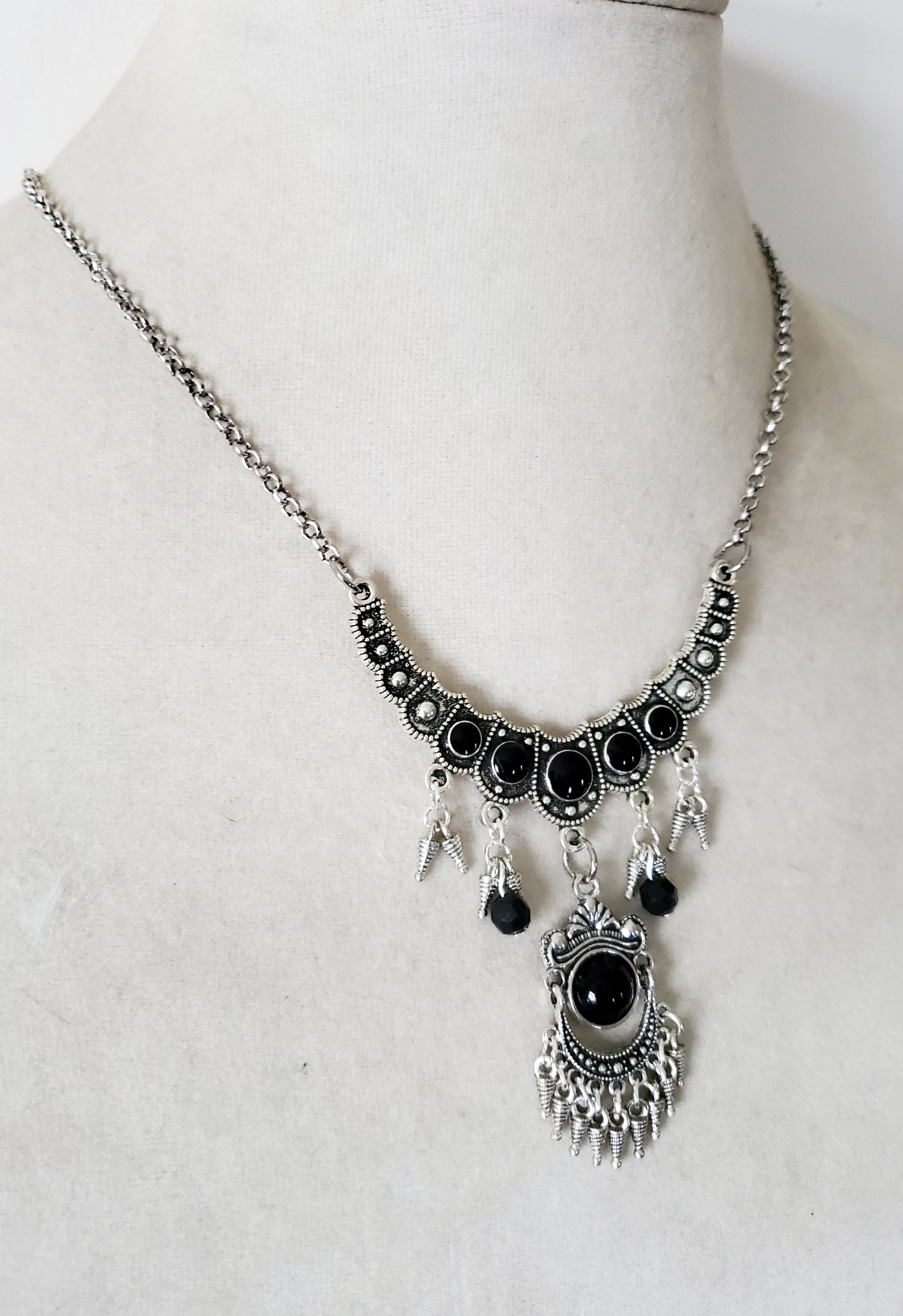 Gothic Chandelier Necklace Victorian Jewelry
