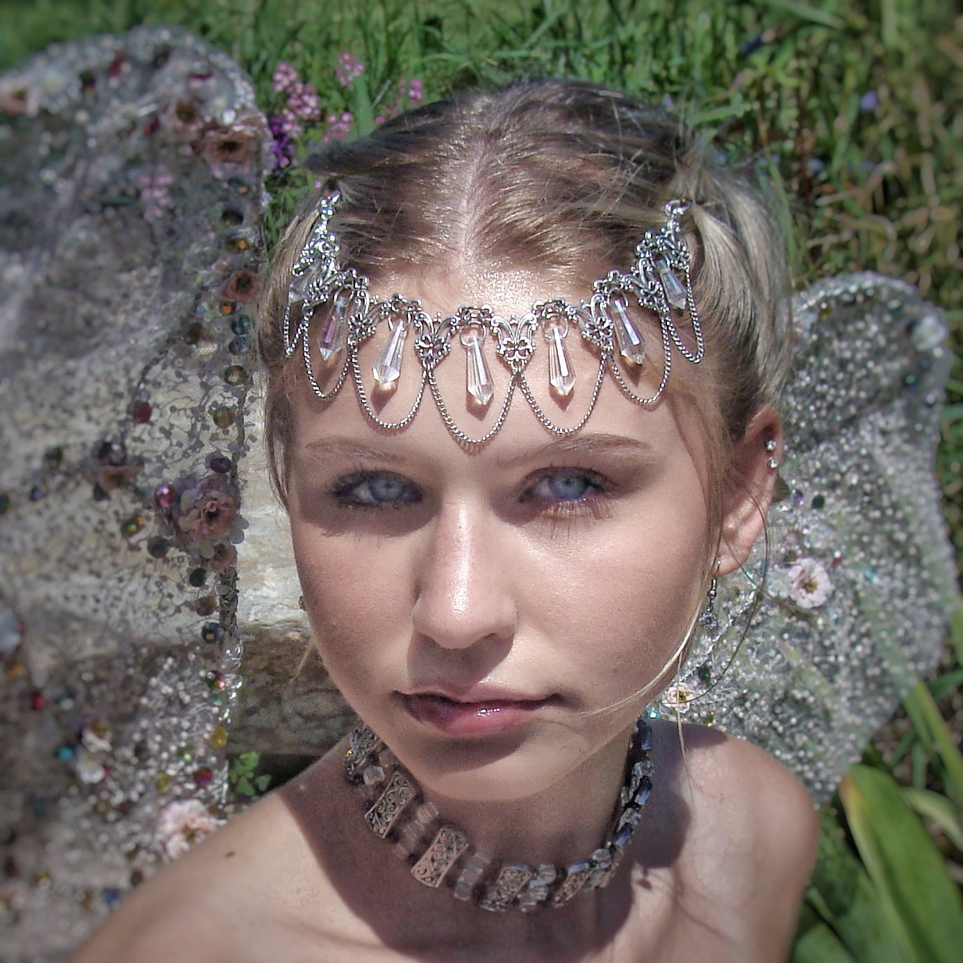Whimsical Fairy Crown Bridal Hair Jewelry - DRAVYNMOOR