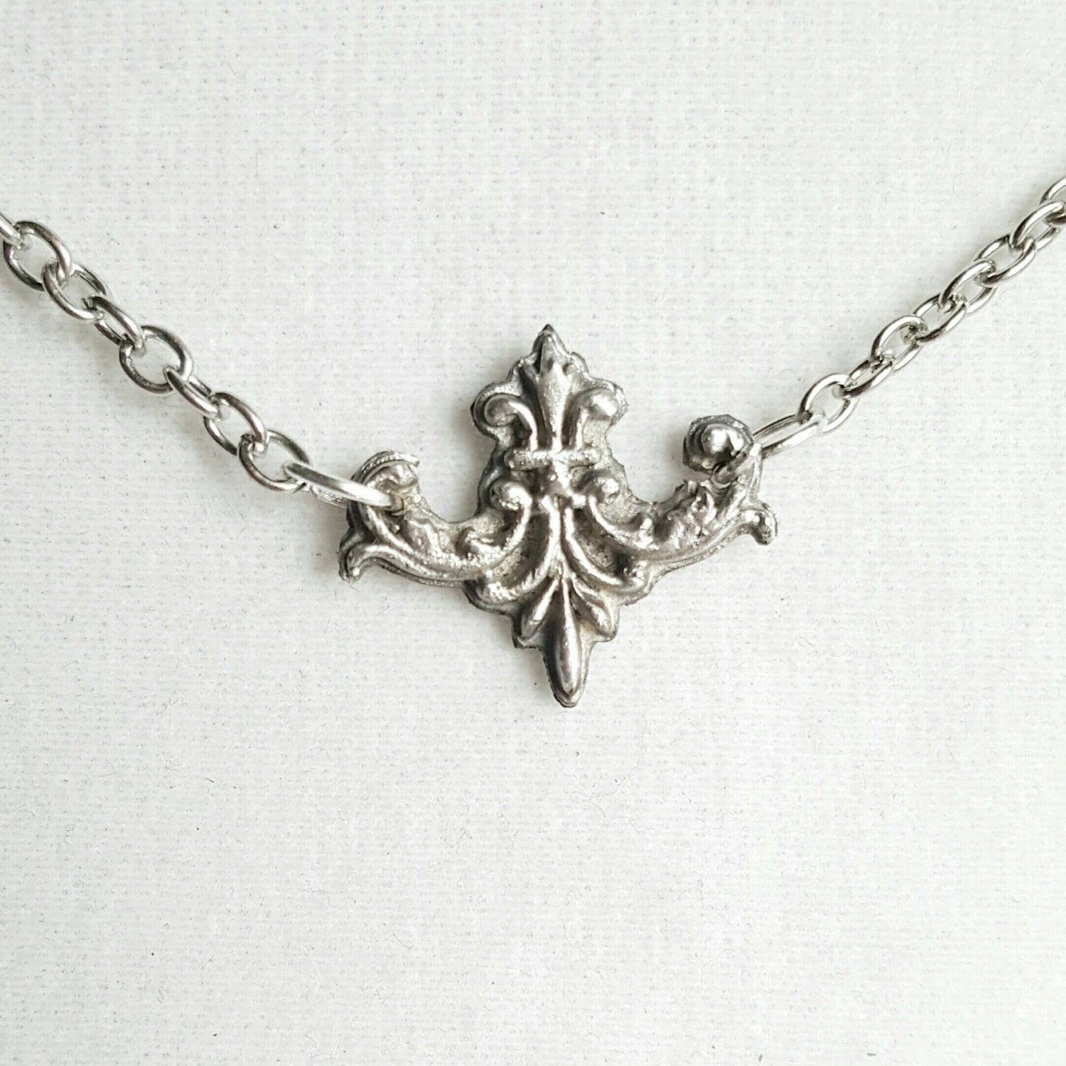 Victorian Necklace Architectural 925 Sterling Silver Jewelry - DRAVYNMOOR