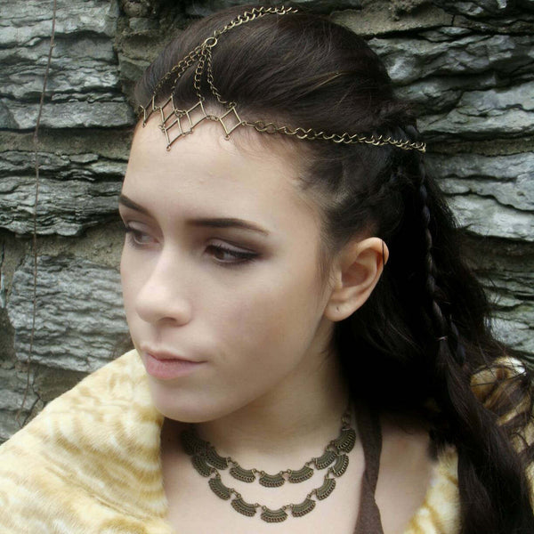 Bronze Medieval Necklace Fantasy Jewelry - DRAVYNMOOR