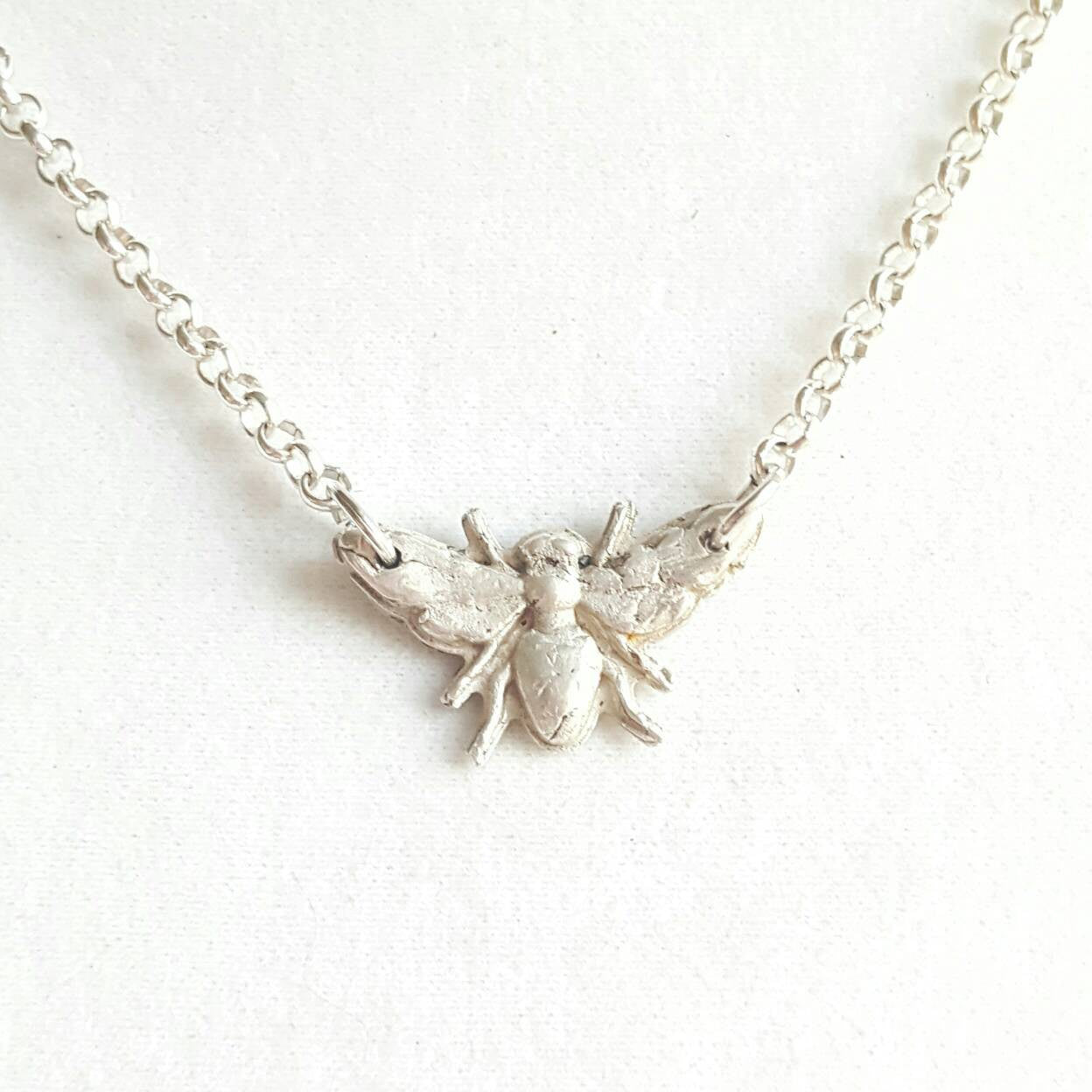 Sterling Silver Necklace - Queen Bee Necklace - Ren Faire - Bridesmaid Gift - Bumble Bee - 925 Jewelry - Bridesmaid Jewelry - Gift for Her - Handmade Jewelry - Ren Faire - DRAVYNMOOR
