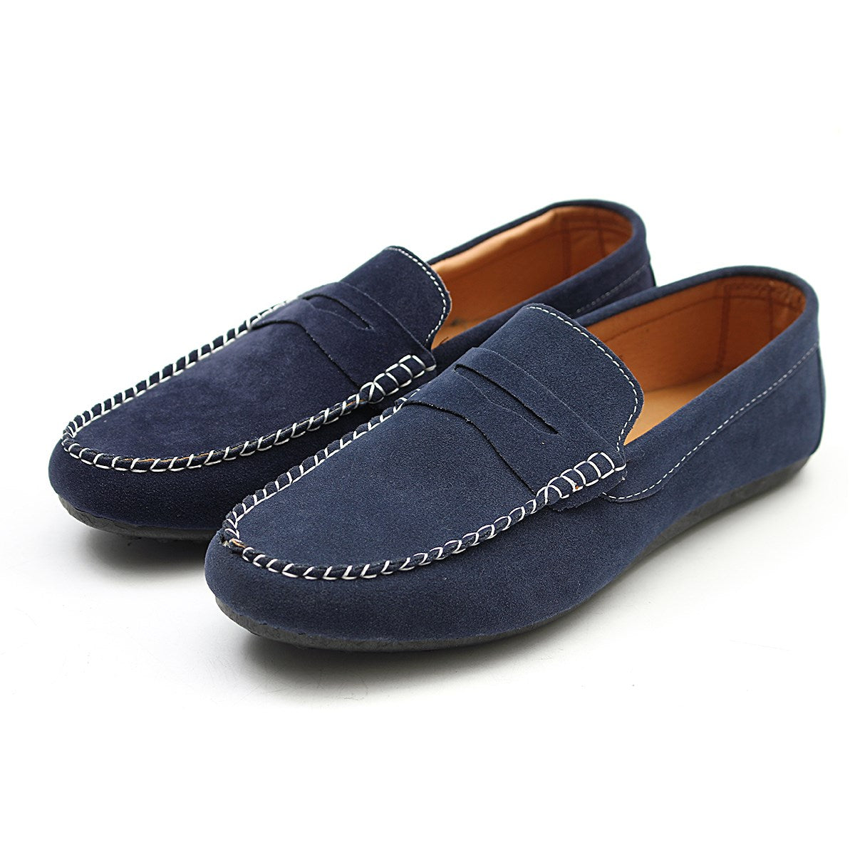 Soft Moccasins Men Loafers High Quality Suede Leather Shoes Men Flats Gommino Driving Shoes Summer Style Spring
