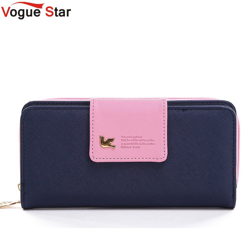 Vogue Star 2017 Women Brand Wallets Famous Designer PU Leather Purses Multi Colors Women Wallets  Hot selling YK40-21