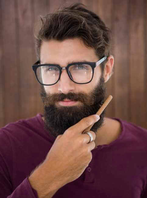 Wood beard comb helps to distribute the beard oil evenly in your beard