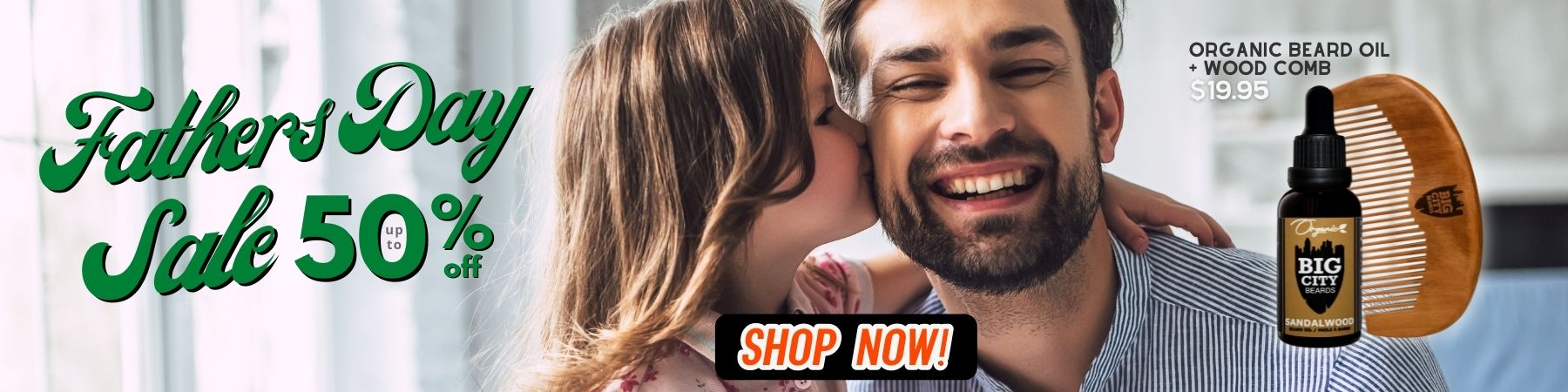 Fathers Day Sale on organic beard oils and balms from Big City Beards