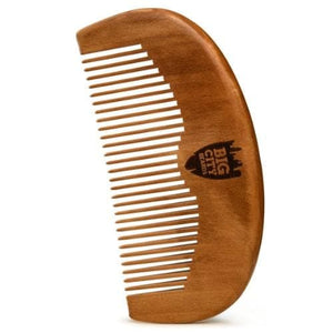 Pear Wood Pocket Beard Comb - Fine Tooth