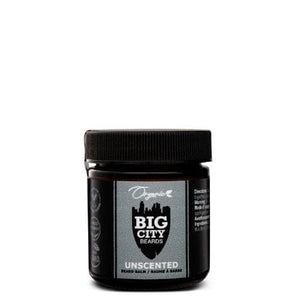 One 50ml jar of unscented organic beard balm from Big City Beards