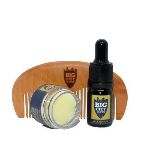 Beard Oil + Beard Balm + Wooden Styling Comb Bundle | Big City Beards