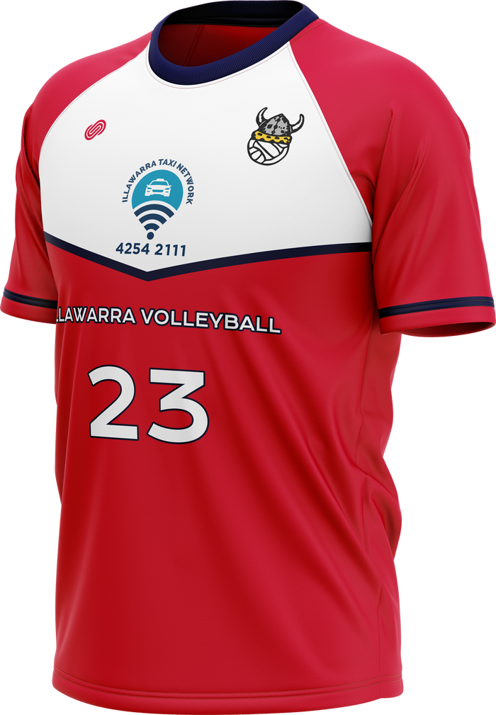 Illawarra Volleyball Mens Jersey - Red