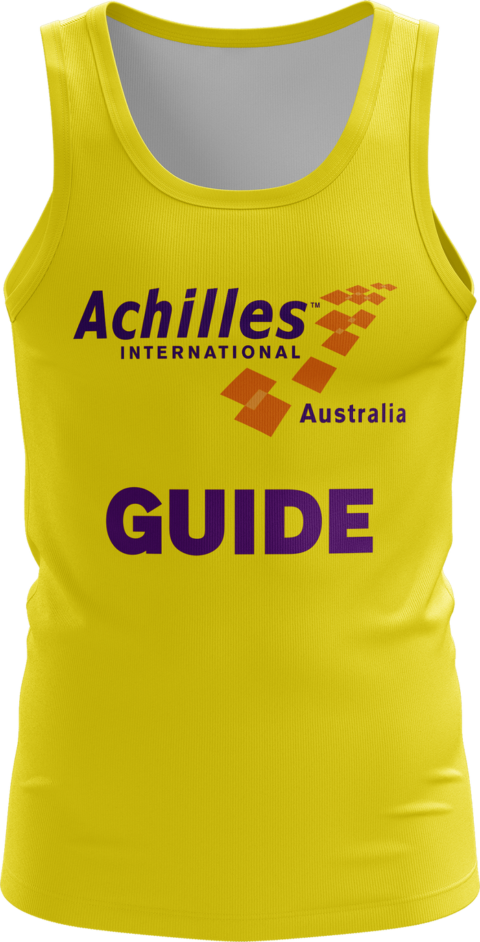 Achilles Brisbane Mens Guide Running Singlet