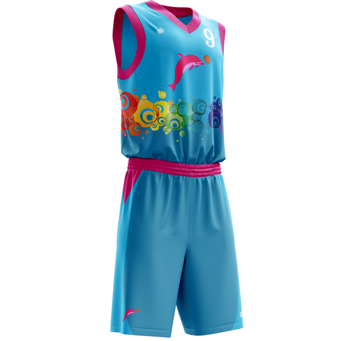 Chatham Dolphins Basketball Jersey & Shorts Set
