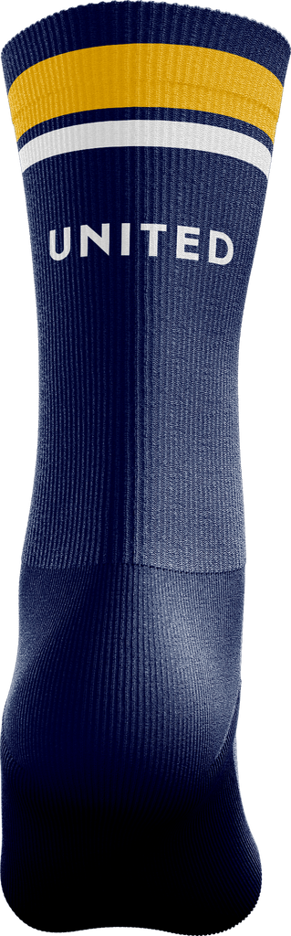 Crossover Basketball Crew Socks - Blue