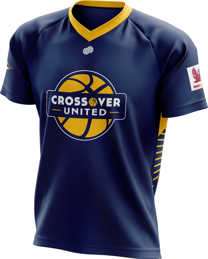 Crossover Basketball Short Sleeve Warm Up Top