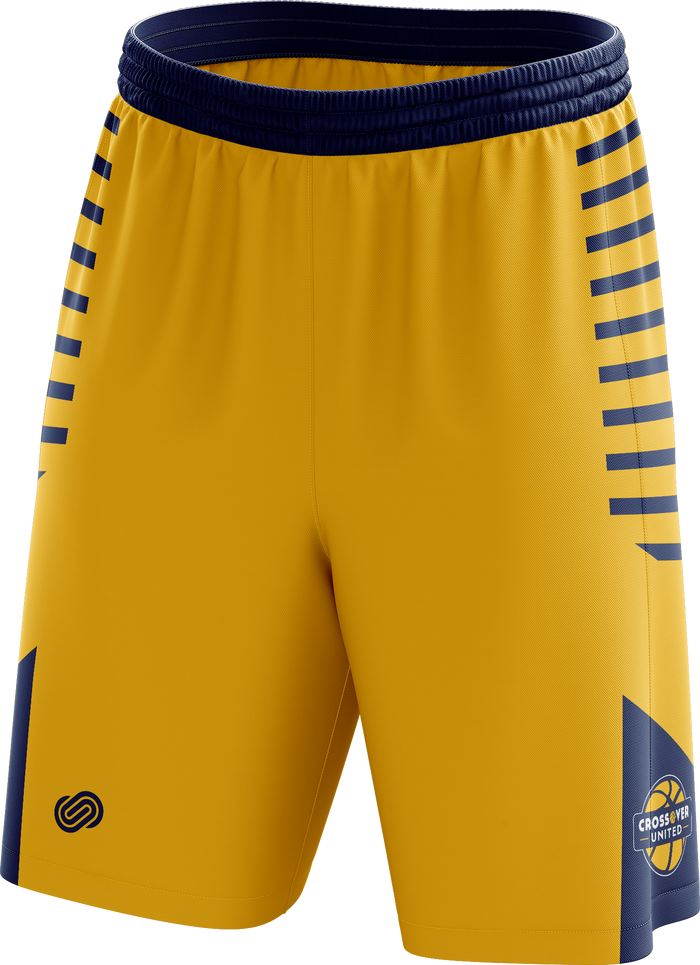 Crossover Basketball Training Shorts - Yellow