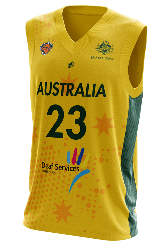 Deaf Basketball Australia Mens Goannas Replica Away Jersey