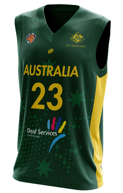 Deaf Basketball Australia Mens Goannas Replica Home Jersey