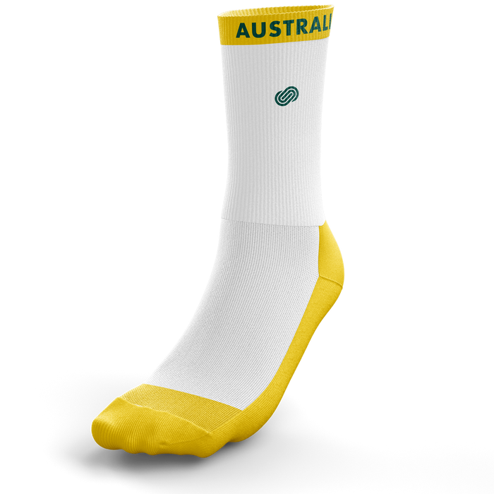 Deaf Basketball Australia Mens Goannas Crew Socks