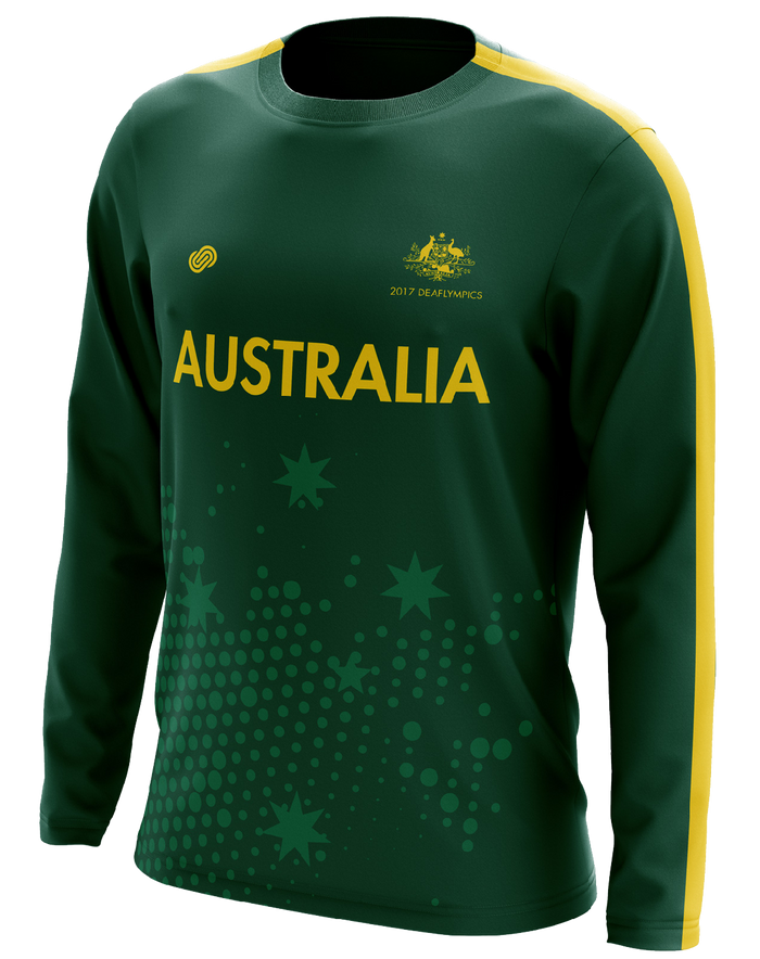 Deaf Basketball Australia Mens Goannas Replica Shooting Shirt