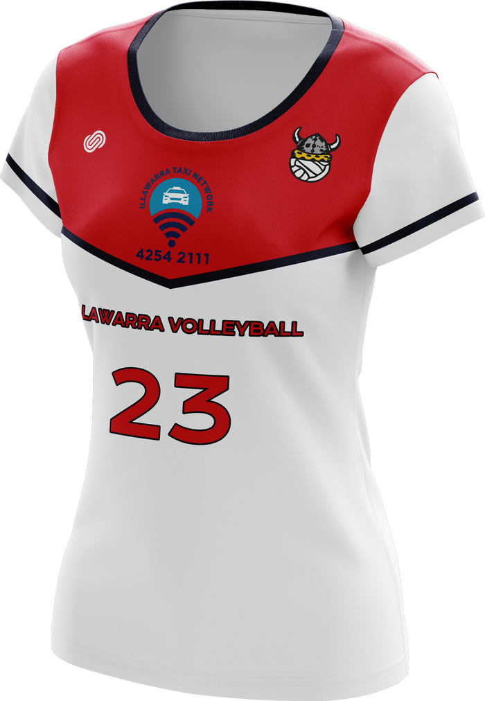 Illawarra Volleyball Womens Jersey - White