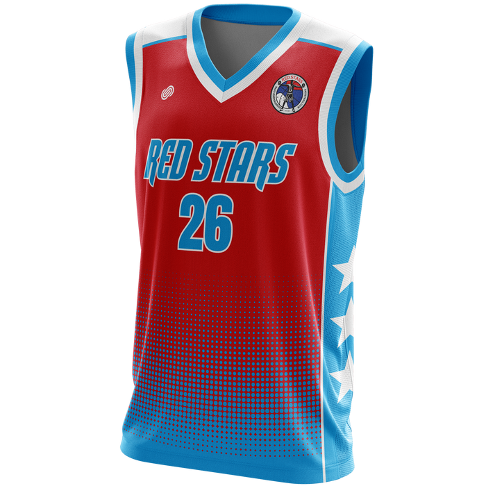 Red Stars Basketball Jersey