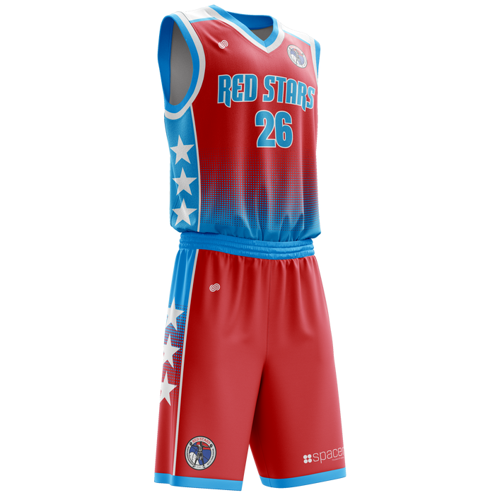 Red Stars Basketball Uniform