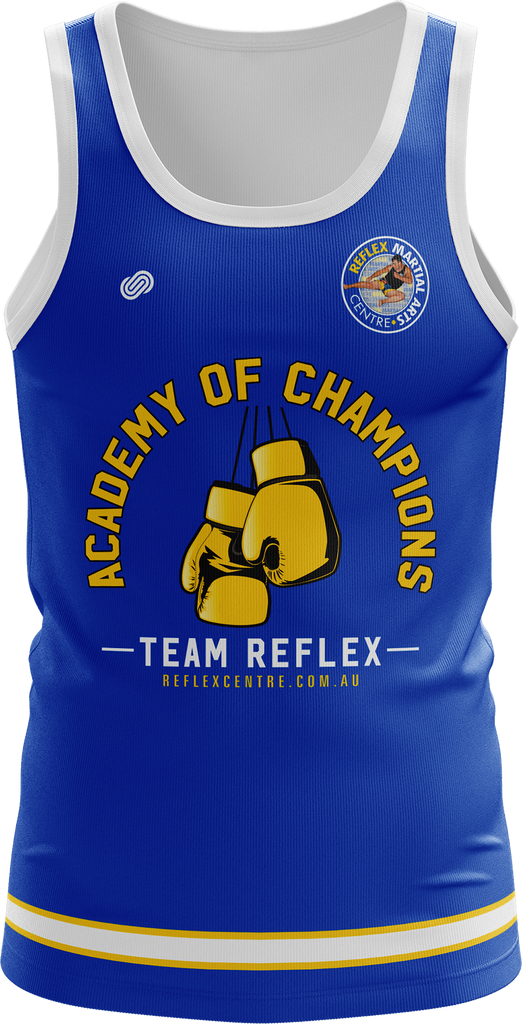 Reflex Mens Training Singlet (White or Blue)