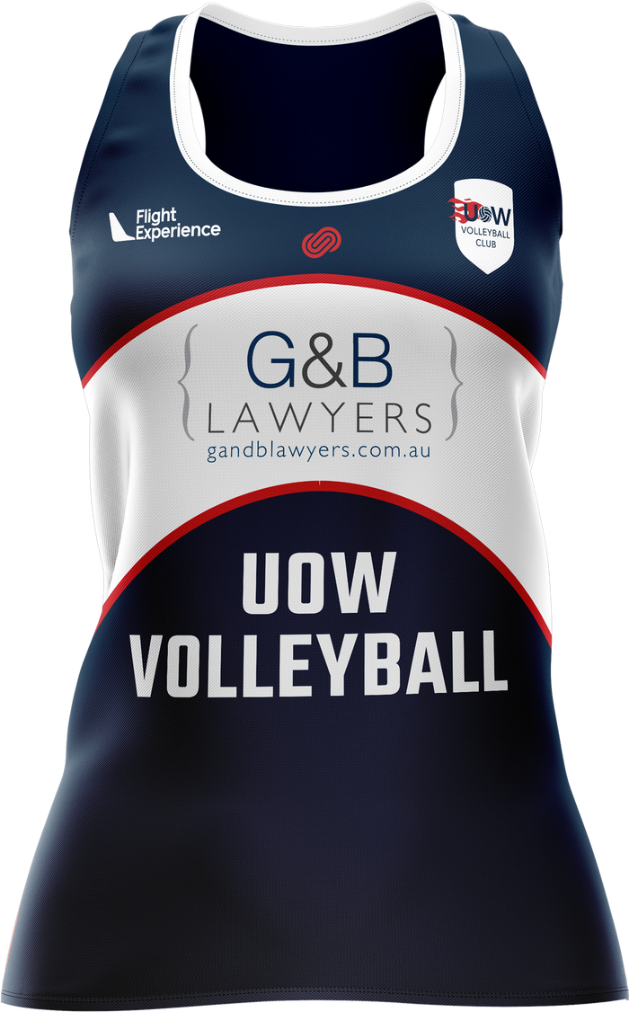 UOW Volleyball Womens Racerback Singlet