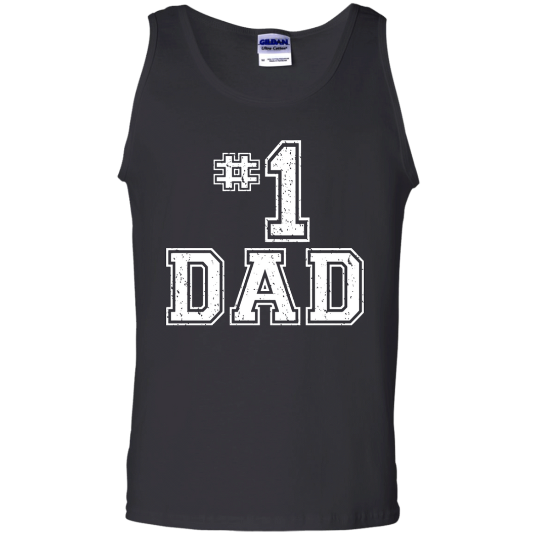 2f0d1507 #1 Dad Number One Father's Day Vintage Style Tank Top - TEEEVER - Black /
