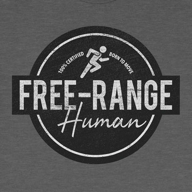 Free Range Human T-Shirt for Runners