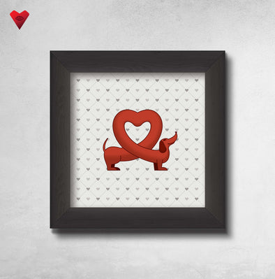 I Love Dachshunds - Framed Art Print - Twisted Temple