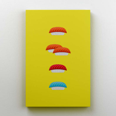 One fish two fish red fish blue fish - Canvas print - Twisted Temple