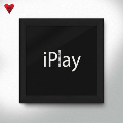 iPlay Piano - Framed Print - Twisted Temple