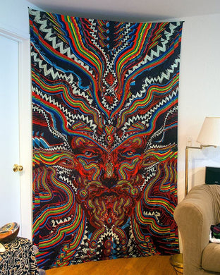 Bicycle Day 3D Tapestry