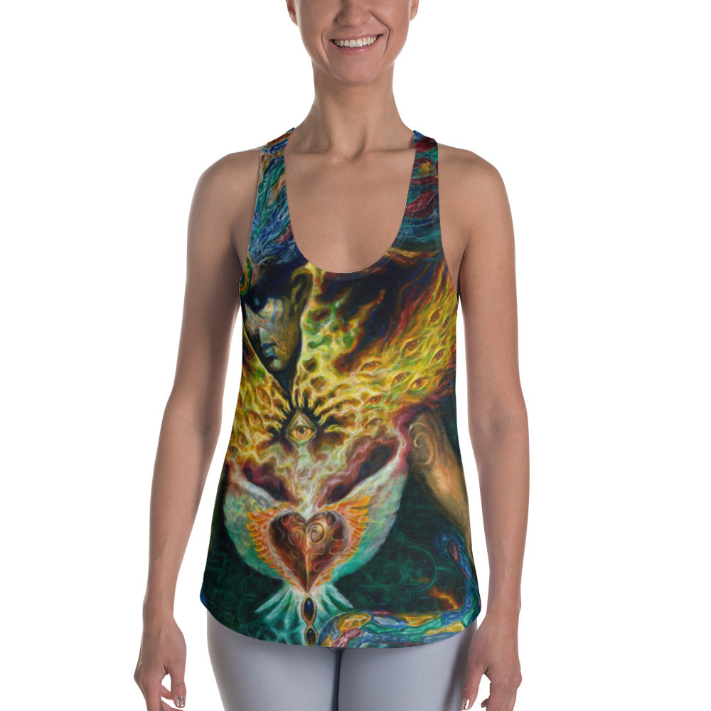 Life is Carried on the Wings of Inuition - Women's Racerback Tank