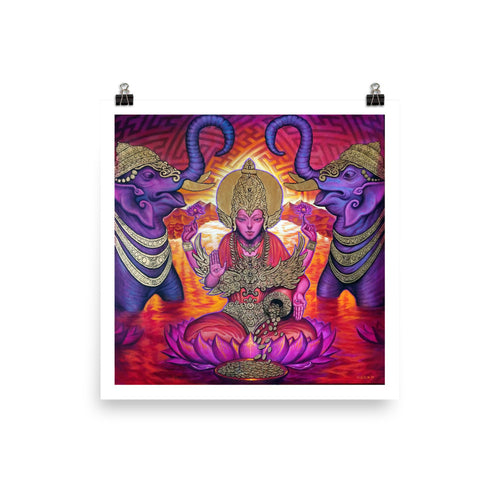 LAKSHMI GODDESS OF WEALTH AND ABUNDANCE - Paper Print