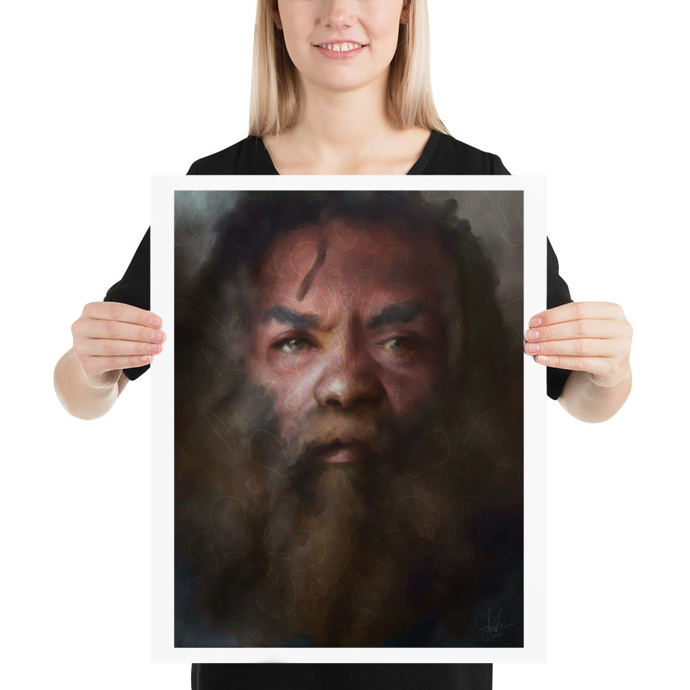 Aboriginal Portrait Print - Charity art print for devastation relief in Australia