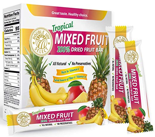 100% Dried Tropical MIx Fruit Bar with Healthy Golden Berries and nothing else! Healthy - Delicious and Nutritious.